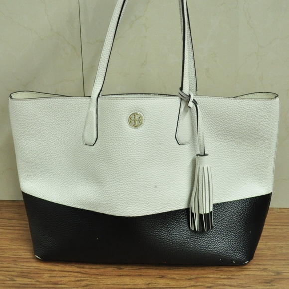 4169ee0521e Tory Burch Bags   Colorblock Perry Pebbled Leather Tote   Poshmark